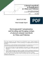 Colonial Waterbirds as Bioindicators- EU-Funded Project, Pakistan & China -Final Report