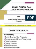 Memahami Fungsi Dan Pengurusan Organisasi - Datuk Abdullah