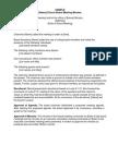 Church Board Minutes Sample