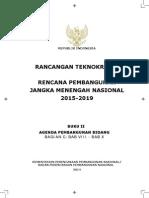 Rancangan Teknokratik RPJMN 2015-2019 Buku II Agenda Pembangunan Bidang Bagian A Bab VIII Bab X
