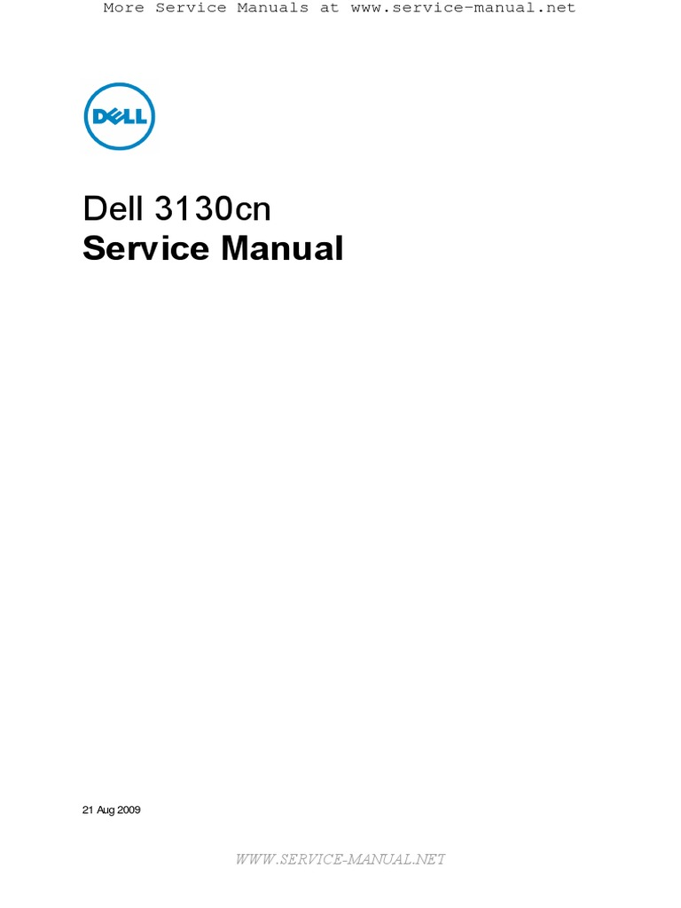dell 3130cn service manual electrical connector troubleshooting rh scribd com Dell 3130Cn Open Dell 3130Cn Transfer Belt