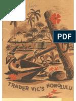 Trader Vics Honolulu -- Menu with Danny Kaye's Signature circa 1952