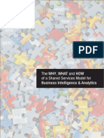The WHY, WHAT and HOW of a Shared Services Model for Business Intelligence & Analytics
