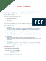 HR ABAP Programming