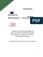 Un Estudio de  la  Gestion  del Capital  Humano  que Labora en los Gobiernos Locales del Estado Carabobo Bajo  un Enfoque  de las Competencias  en el Contexto de la Sociedad del C.doc