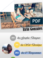 About Me - Eirin Gonzales