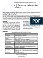 Novel Technique of Generating Hydrogen Gas Using Radiowave Energy