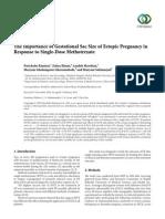 Single - Dose MTX for Ectopic Pregnancy