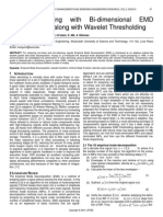 Video Denoising With Bi Dimensional Emd Decomposition Along With Wavelet Thresholding