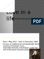 Love in a Life by Robert Browning analysis