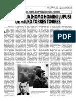 MEMORABILIA (HOMO HOMINI LUPUS) DE MILKO TORRES TORRES (Oja x Oja 2014-10-20)
