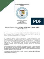 Informe de lectura de los delitos y de las penas BECCARIA.odt