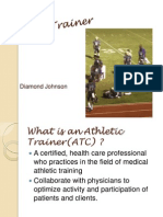 career powerpoint  athletic trainer