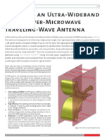 CST Application Note Ultra Wideband High Power Microwave Traveling Wave Antenna