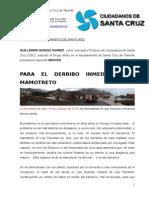 MOCIÓN PARA EL DERRIBO DEL MAMOTRETO TRAS TORMENTA DEL 19 DE OCTUBRE.doc
