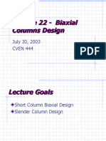 Bia Axial Column Design
