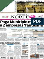 Periódico Norte edición impresa del día 20 de octubre de 2014