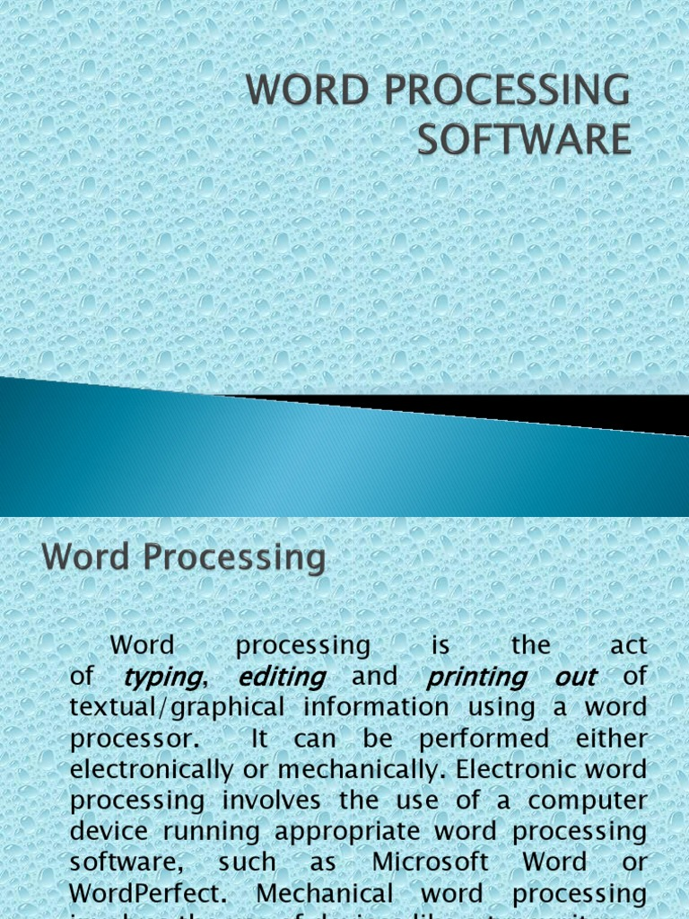 Word Processing Software Word Processor Microsoft Word