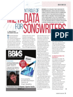 The important role of metadata for songwriters