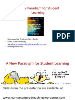 A New Paradigm for Student Learners Lilly North 2014