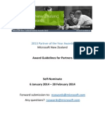 NZ Partner Awards 2013 Guidelines