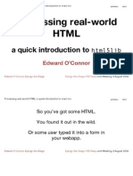 Processing Real-world HTML