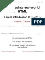 Processing Real-world HTML