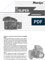 Mamiya M645 Super Instruction Manual