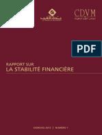 Rapport sur Stabilit la financire numro 1 - Exercice 2013.pdf