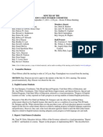 Minutes of the Education Interim Committee