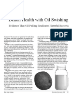 Dental Health Oil Swishing
