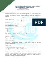 Faktor Integrasi Persamaan Diferensial Linier Orde1 Pada Rc