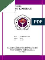 Ekonomi Koperasi Rangkuman SAP Bab 1 s/d Bab 12