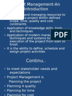 Project Management-An Introduction