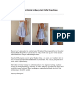 Ruffle Strap Dress - Custom Pattern Block Original