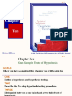 Chapter 10 One-Sample Tests of Hypothesis