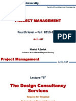 Lect 8 Design Consultency Services RFP