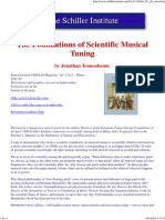 The Foundations of Scientific Musical Tuning