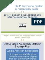 2010-11 GPPSS Staffing and Budgeting Process
