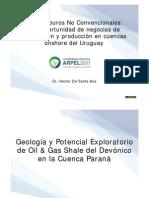 Hidrocarburos No convencionales en Uruguay /  ARPEL 2011 / Dr H. de Santa Ana