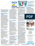 Pharmacy Daily for Tue 21 Oct 2014 - Adverse reports down, Save $2b by treating at pharmacy, Pharmacy assistant of the year, Letter to the Editor, and much more