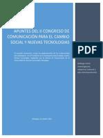 CUADERNO II CONGRESO COMUNICACION DE COMUNICACIPON PARA EL CAMBIO SOCIAL Y TICS NICARAGUA 2014.pdf