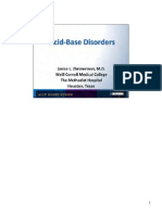 Acid Base Disorders/Pulmonary board review