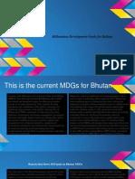 millennium development goals for buhtan