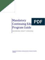 Mandatory Continuing Education Program Guide