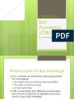 Introduction to Open-to-buy Planning