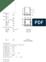 Calculation Sheet Saluran