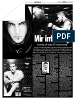 Frank Mir, Keeping Fit, Sun Media (April 20, 2009)