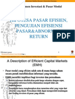 Sesi 13 Hipotesa Pasar Efisien Dan Abnormal Return