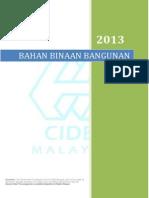 Harga Bahan Binaan Johor Jan-nov13